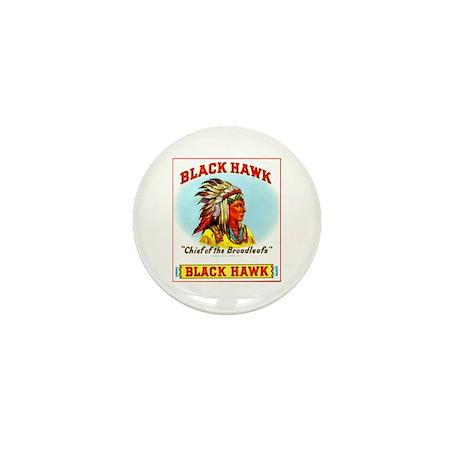 Black Hawk Chief Cigar Label Mini Button (10 pack)