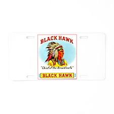 Black Hawk Chief Cigar Label Aluminum License Plat