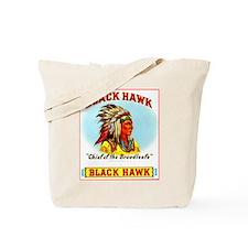 Black Hawk Chief Cigar Label Tote Bag