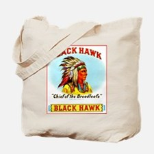 Black Hawk Chief Cigar Label Tote Bag