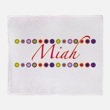 Miah with Flowers Throw Blanket