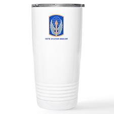 SSI - 166th Aviation Brigade with Text Travel Mug