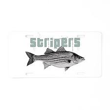 Stripers Aluminum License Plate