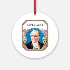 Diplomat Cigar Label Ornament (Round)