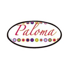 Paloma with Flowers Patches