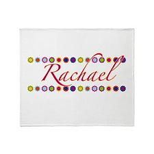 Rachael with Flowers Throw Blanket