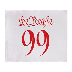 the People 99 red Throw Blanket