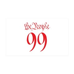 the People 99 red 38.5 x 24.5 Wall Peel