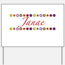 Janae with Flowers Yard Sign