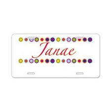 Janae with Flowers Aluminum License Plate