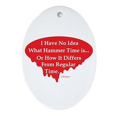 Dexter Dances Ornament (Oval)