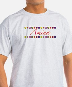 Amina with Flowers T-Shirt