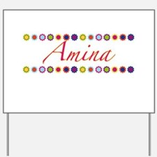 Amina with Flowers Yard Sign