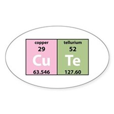 Chemistry Cute Oval Decal