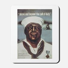 Black Servicemen Above & Beyond Mousepad