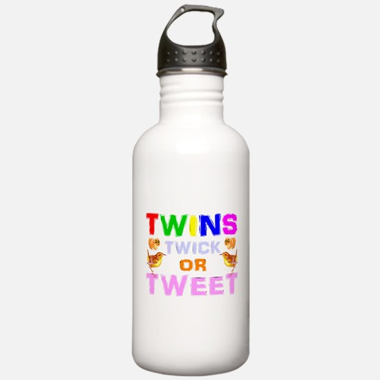 twins trick or treat Water Bottle
