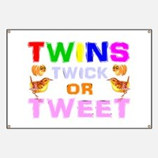 twins trick or treat Banner