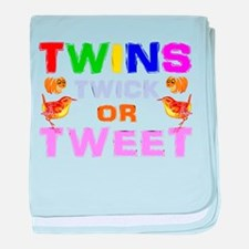 twins trick or treat baby blanket