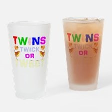 twins trick or treat Drinking Glass