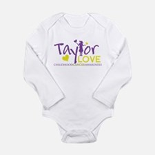 Cute Childhood cancer Long Sleeve Infant Bodysuit