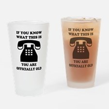 You Are Officially Old Drinking Glass