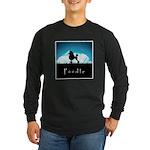 Nightsky Poodle Long Sleeve Dark T-Shirt
