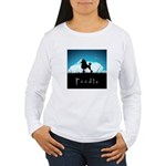 Nightsky Poodle Women's Long Sleeve T-Shirt