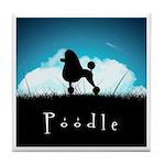 Nightsky Poodle Tile Coaster