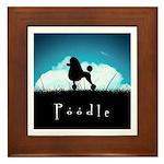 Nightsky Poodle Framed Tile