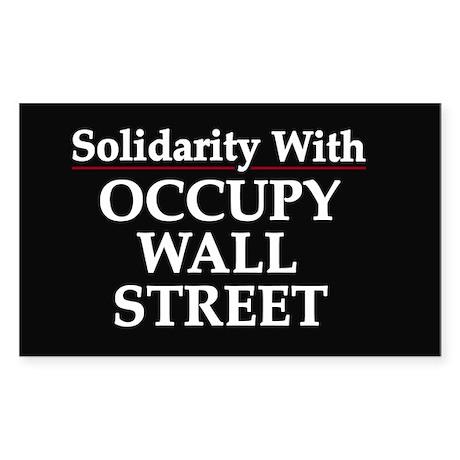 Occupy Wall Street - Sticker (Rectangle)