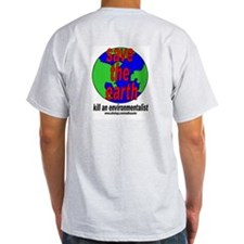 Save The Earth Grey T-Shirt