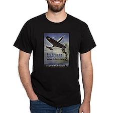 Airacobra (Front) Black T-Shirt