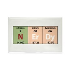 Chemistry Nerdy Rectangle Magnet (100 pack)