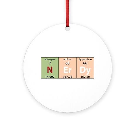 Chemistry Nerdy Ornament (Round)