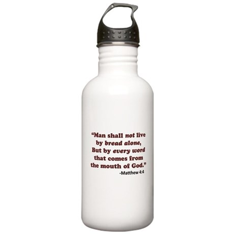 Matthew 4:4 Stainless Water Bottle 1.0L