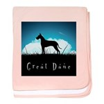 Nightsky Great Dane baby blanket