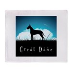 Nightsky Great Dane Throw Blanket