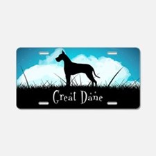 Nightsky Great Dane Aluminum License Plate