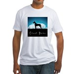 Nightsky Great Dane Fitted T-Shirt