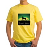 Nightsky Great Dane Yellow T-Shirt