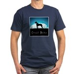 Nightsky Great Dane Men's Fitted T-Shirt (dark)
