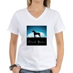 Nightsky Great Dane Women's V-Neck T-Shirt