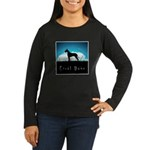 Nightsky Great Dane Women's Long Sleeve Dark T-Shi
