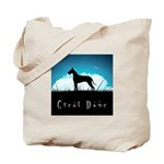 Nightsky Great Dane Tote Bag