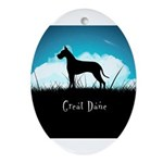 Nightsky Great Dane Ornament (Oval)