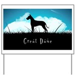 Nightsky Great Dane Yard Sign