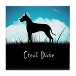 Nightsky Great Dane Tile Coaster