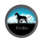 Nightsky Great Dane Wall Clock