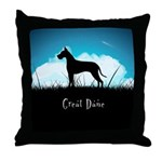 Nightsky Great Dane Throw Pillow