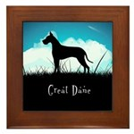Nightsky Great Dane Framed Tile